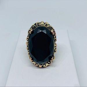 Black onyx cocktail ring